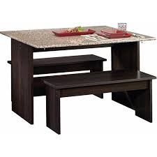 Trestle table with bench Farmhouse Sauder Beginnings Trestle Dining Table With Benches Multiple Finishes Walmartcom Walmart Sauder Beginnings Trestle Dining Table With Benches Multiple