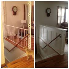 Stair Renovation Solutions Entry Stair Railing Split Foyer Wall Ideas Walls And Split Foyer