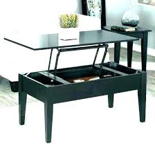 oak coffee table with storage baskets underneath to under ba