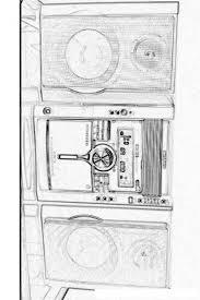 Paint Kleur Geluid Apparatuur Stereo Radio Recorder Kleurplaten