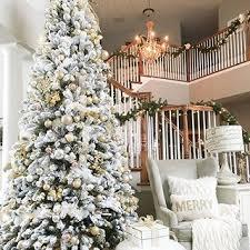 Slim Flocked Christmas Trees Artificial