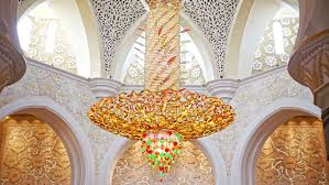 sheikh zayed grand mosque in abu dhabi united arab emirates chandelier crystals in diffe colors hd wallpaper 1920 1200