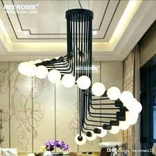 fascinating black shade chandelier contemporary chandeliers modern clear glass drum dining room photo ideas