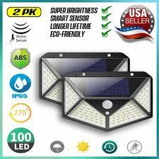 100 led <b>solar</b> power pir motion sensor
