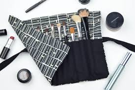 how to sew a diy makeup brush roll reverate