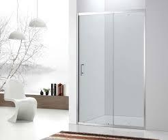stainless steel framed sliding shower door with tempered glass
