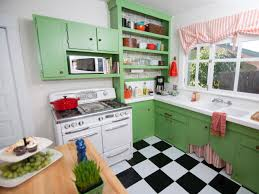 Checkerboard Kitchen Floor Kitchen Small Vintage Kitchen Idea With Metal Table And