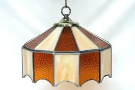 stained glass lighting stained glass hanging vintage leaded glass shade light fixture amber stained glass pendant stained glass lighting