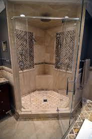 Stone Walk-In-Shower mediterranean-bathroom