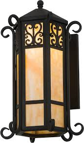 meyda tiffany 159209 ca lantern wrought iron wall sconce light loading zoom