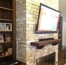 wall mount tv stone fireplace installation mounted plasma how to hang