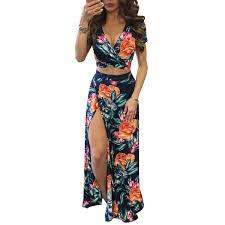 2019 <b>Yjsfg House</b> Elegant <b>Women</b> Summer Long Maxi Dresses Two ...