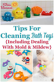 here are tips for cleaning bath toys including how to deal with mold and mildew