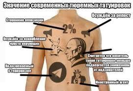 тюремные татуировки значение фото
