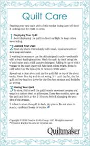 Tip Tuesday: Washing Quilts & Fabrics - how do we do it? - Fons ... & Quilt Care Label - Quiltmaker Adamdwight.com