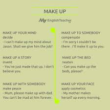 diffe meanings of make up
