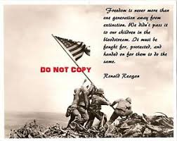 Ww2 Quotes Stunning WWII 48X48 HUGE PHOTO IWO JIMA MT SURIBACHI R REAGAN QUOTE FLAG