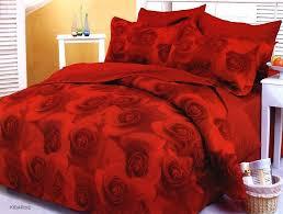 bold red rose print bedspreads rose seau duvet cover set by le vele