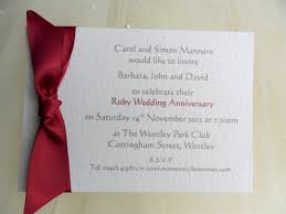 amazing ruby wedding anniversary invitation cards photo ideas new and unique wedding ideas