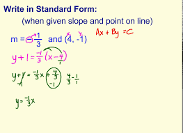 write standard form when given point and slope