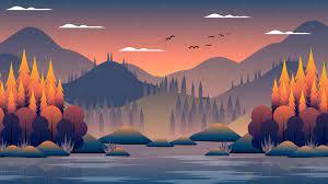 Cool Landscape Night Minimal Art ...