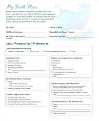 C Section Birth Plan Birth Plan Template Free Word Documents Download Baby