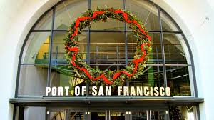 Port of San Francisco Christmas Wreath