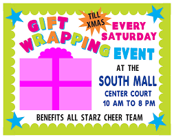 Fundraiser Poster Ideas Gift Wrapping Cheer Team Fundraiser Fundraising Poster Project