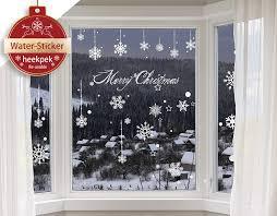 Heekpek Schneeflocken Selbstklebend Fensterschmuck Weihnachten Schneeflocke Weihnachtsdeko Fenstertattoo Wandtattoo Weihnachten Deko Weiss
