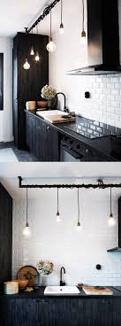 black kitchen lighting. beautiful kitchen lighting mixing old bulbs and new skna hem black
