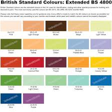 Albany Paint Colour Chart British Standard Colours Extended Bs 4800 In 2019 Color