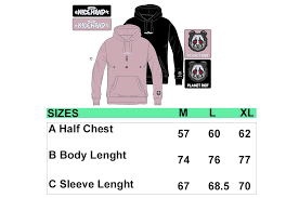 Planet Clothing Size Chart Planet Riot