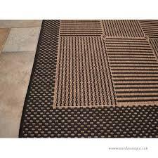 rustica flat weave rug black brown 60cm x 110cm approx 24
