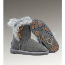 UGG Fox Fur Short 5685 Boots Grey