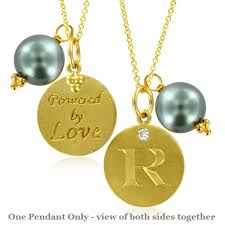 Love Letters Extraordinary Initial Necklace Pearl Charm Letter R Diamond Pendant Yellow Gold
