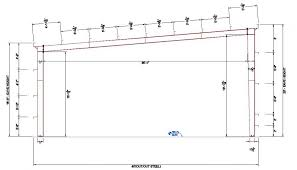 40x100x20 pre enginered plete building system single slope