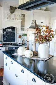 decor kitchen kitchen: fall home tour part  showing off the softer side of fall kitchen island centerpiecekitchen island decorspace