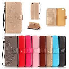 for iphone 7 8 4 7 inch luxury bling book style leather flip erfly fundas case cover