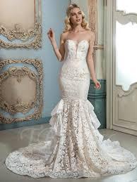 sweetheart lace tiered court train mermaid wedding dress tbdress com