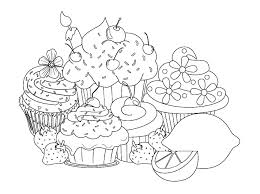 Small Picture beautiful sweet cupcake pages Cup Cakes Coloring pages for