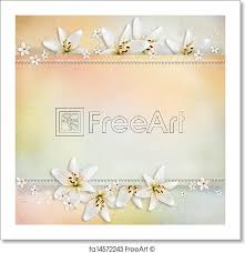 Free Art Print Of Wedding Background With Flowers For