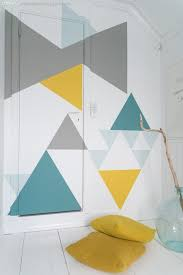 diy ideas for painting walls diy geometric walls in spring colors cool ways to
