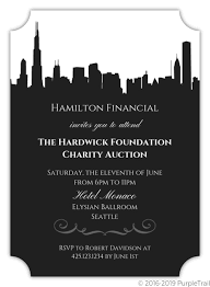 City Skyline Corporate Event Invitation