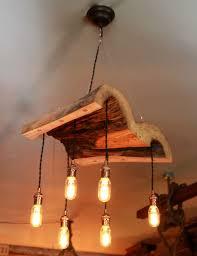 reclaimed lighting. Live Edge Log Light, Reclaimed Wood Lighting M