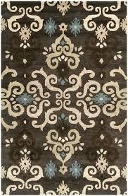 brown multi area rugs 5x7