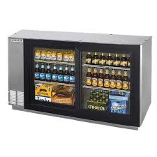beverage air bb58gs 1 s led wine 58 stainless steel pass through sliding glass door back bar wine refrigerator