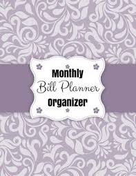 Monthly Bill Planner Organizer Floral Design With Calendar