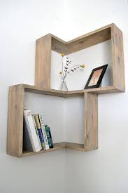 diy bookshelves is made from quality pine and fit 90 degree wall corner all shelf described weathered finish with stain applied on the outer edge