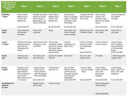 30 Day Healthy Eating Plan Week 1 Meal Plan Clean Eating 30 Day Challenge Clean