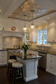 kitchens with tray ceilings | Tin tray ceiling idea for dining room |  Kitchens